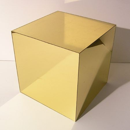 Acrylic Gold Mirror Cube 19 Quot Event Hire Professionals