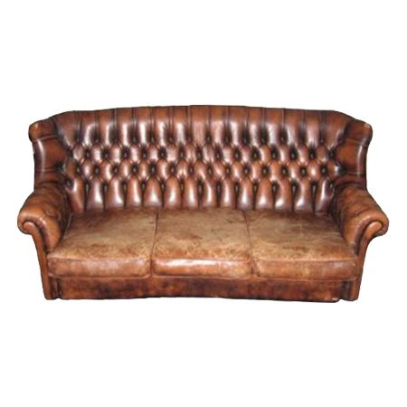 Chesterfield Sofa - 3 Seater - High Back - Tan - Vintage - Event ...