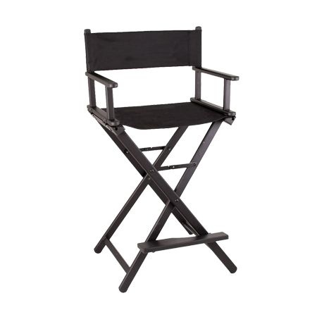 Tall Wooden Director Chair Black Event Hire Professionals